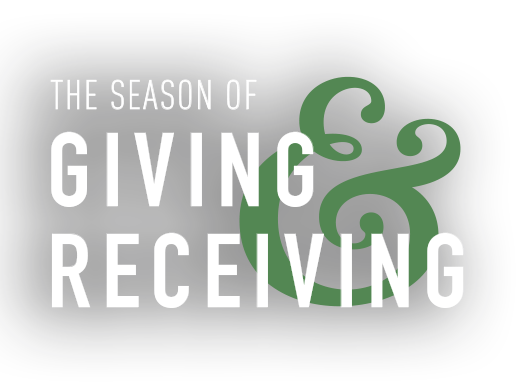 The season of giving and receiving